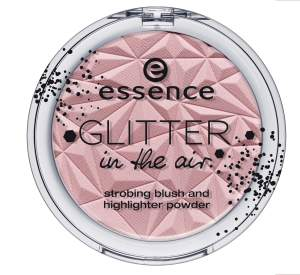 essence glitter in the air strobing blush and highlighter powder 01