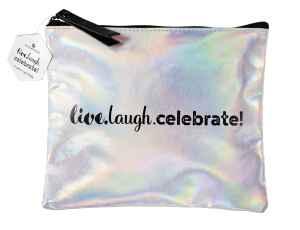 "essence - make-up bag ""live.laugh.celebrate"""