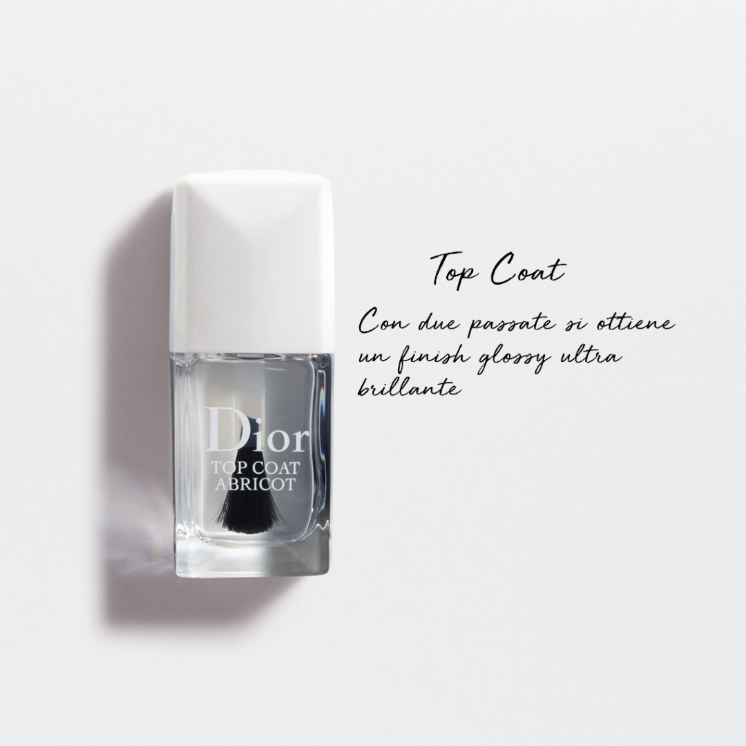 Dior Abricot manicure - top coat