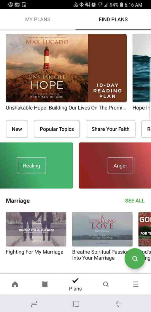 The Bible App Reading Plans