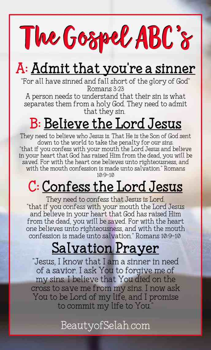 The Gospel ABCs | How to lead someone to Christ by sharing the good news