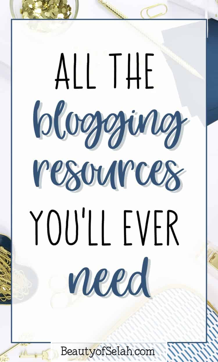 Grab the best blogging resources! I've compiled a list of 20+ resources that will be the best fit for your blog! How do I know? Because I use all of them! #blogging #bloggingresources #howtoblog
