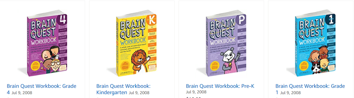 brain quest books from amazon