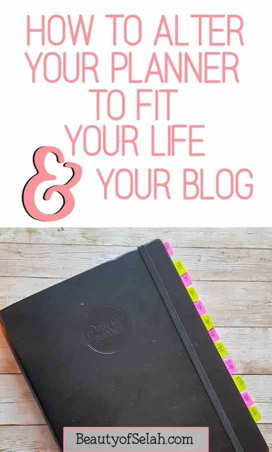 how to HACK your planner to fit your life and your blog #howtoblog #planner #organization