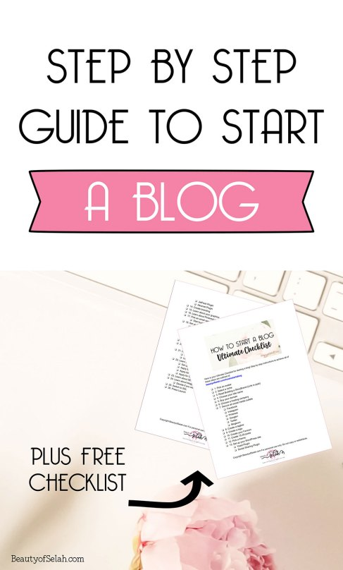 Step by Step Guide to start a blog