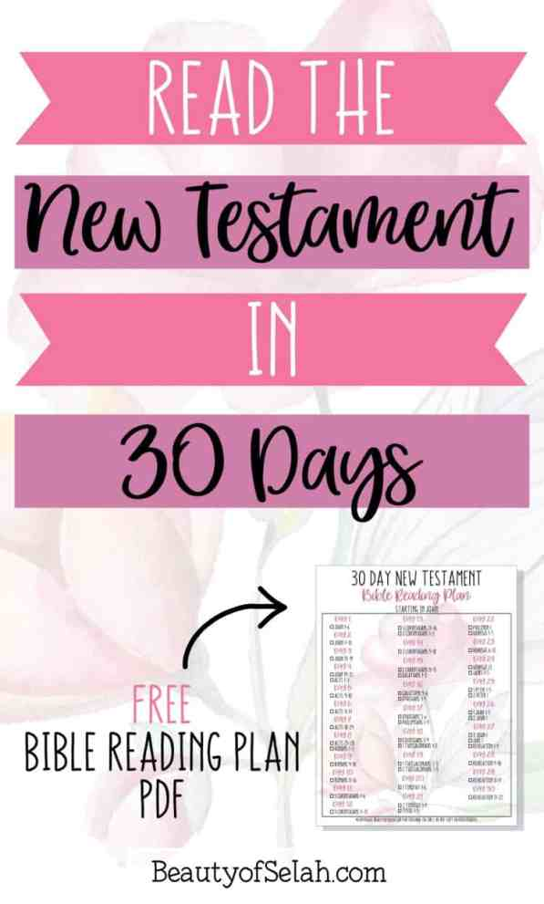 How to Easily Read the New Testament in 30 Days {Bible