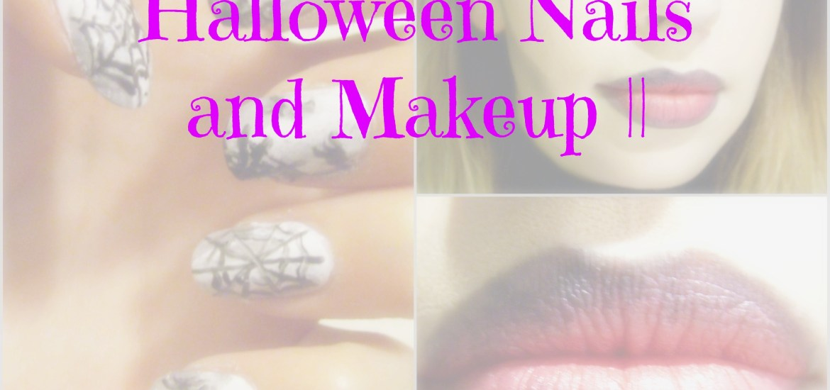 Halloween Nails and Makeup || TUTORIAL