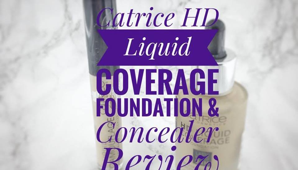 catrice foundation & concealer