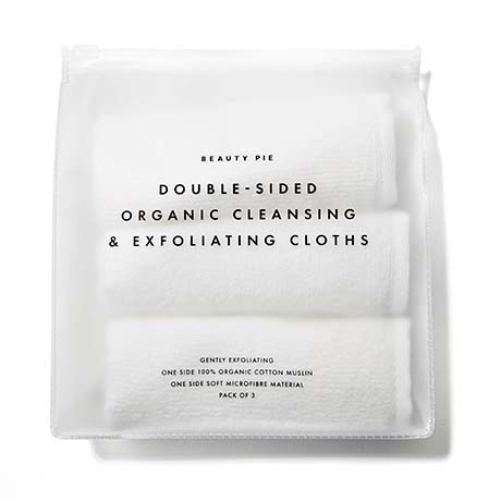 Beauty Pie Double-Sided Organic Cleansing & Exfoliating Cloths