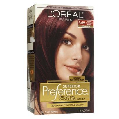 Medium Mahogany Brown Hair Color