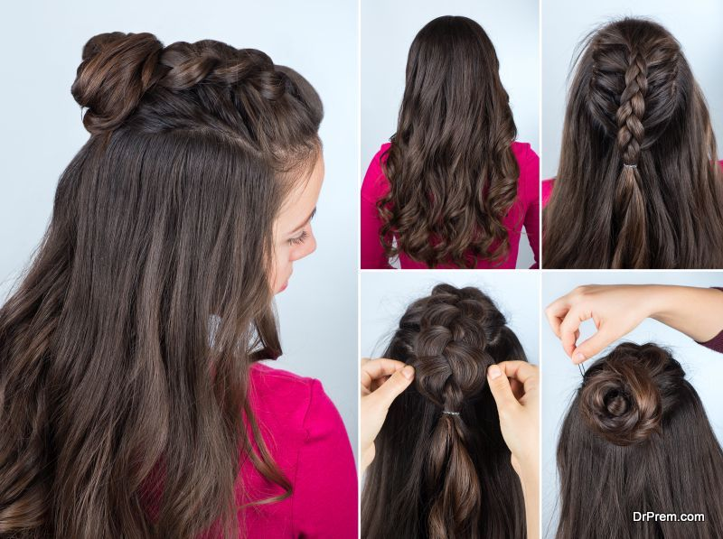 Half-up-hairstyle