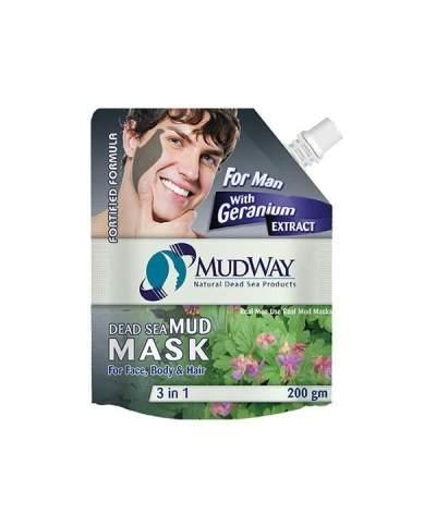 Masca din namol cu extract de geraniu (pentru barbati) 3in1 200gm beauty secrets