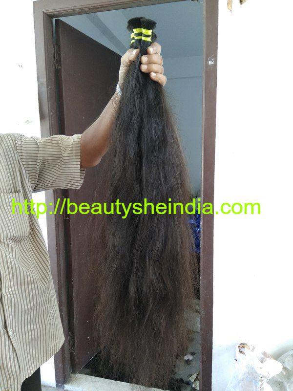 Bulk Single Drawn Hair Raw Indian Temple Hair