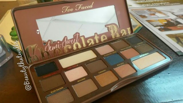 Too Faced Semi Sweet Chocolate Bar Eyeshadow Palette Review
