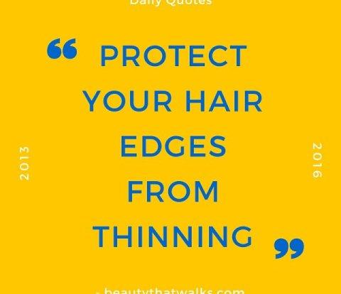 hair edges, hair thinning, breakage