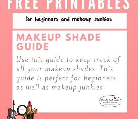 makeup shade guide free printables