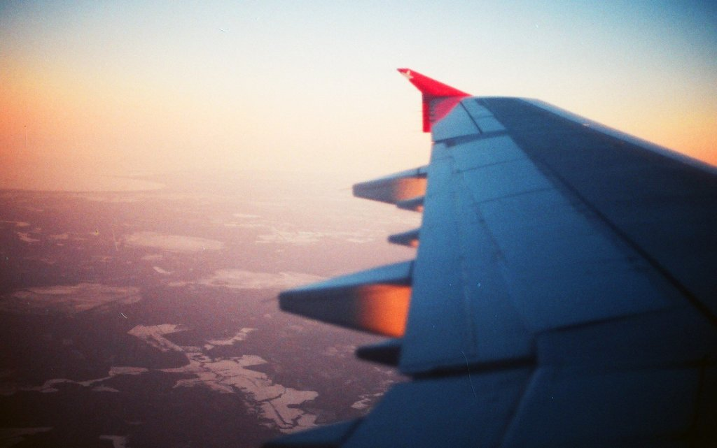 solo travel, plane wing