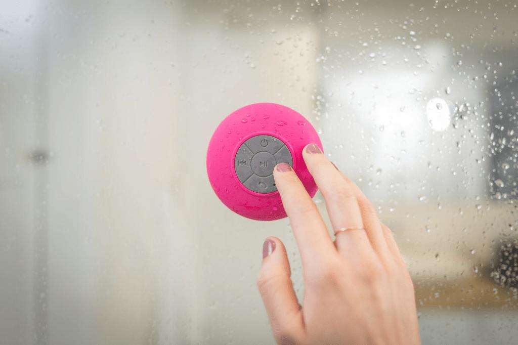 bluetooth speaker in shower