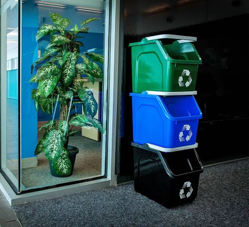 recycle, waste bins, trash can