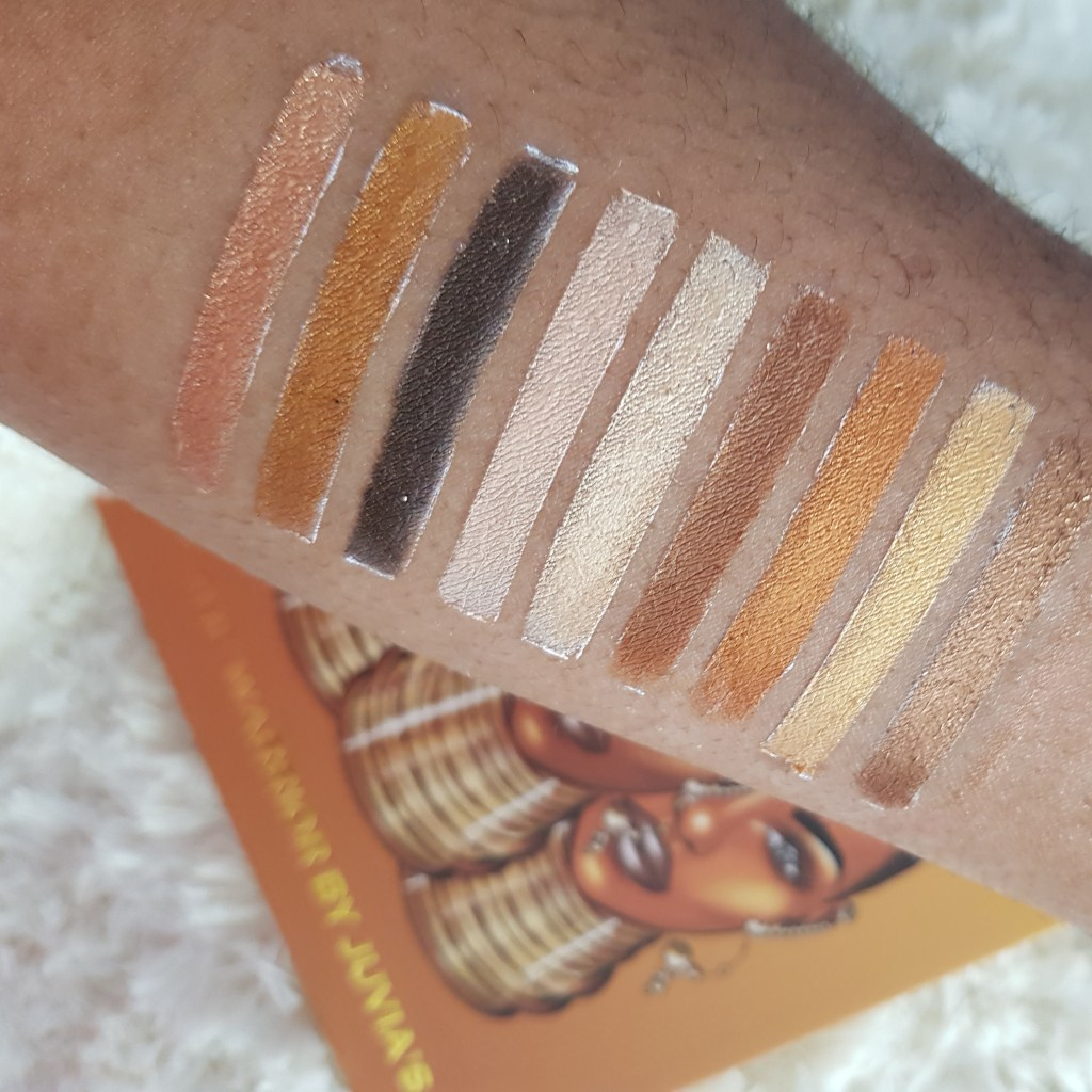 Juvia's Place Warrior Palette Swatches
