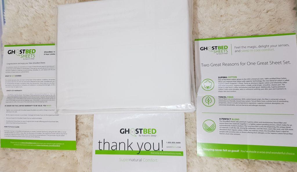 ghost bed luxury sheet