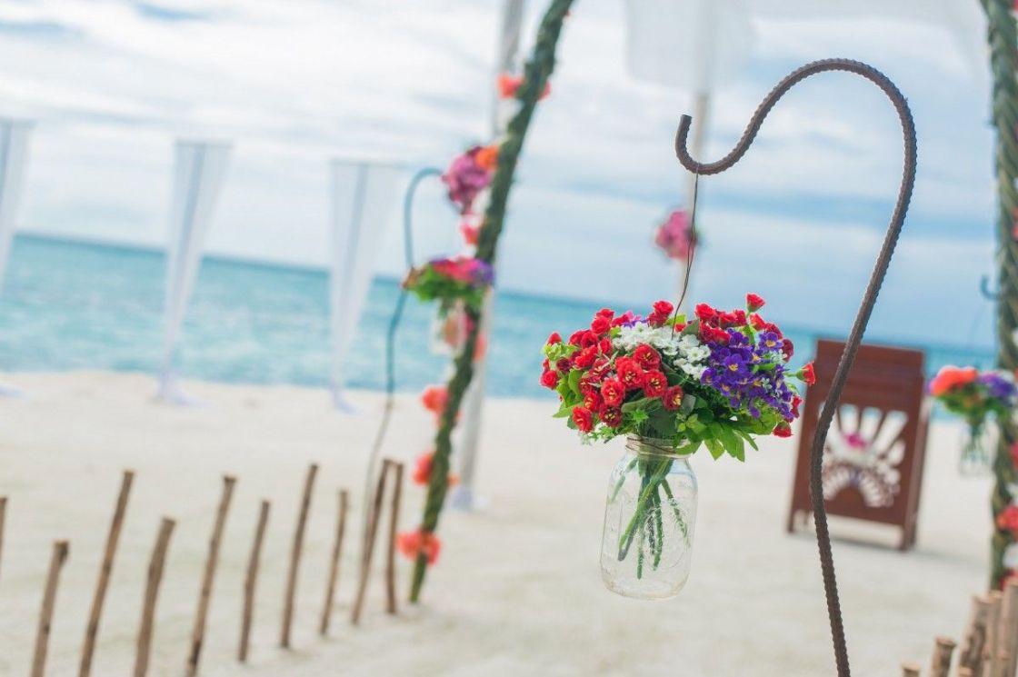 wedding decor, beach wedding