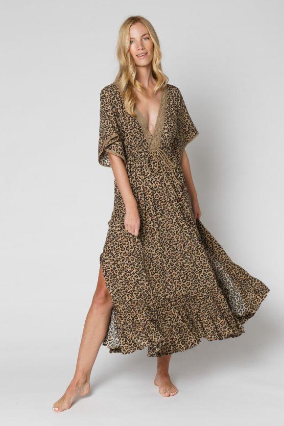 leopard boho dress