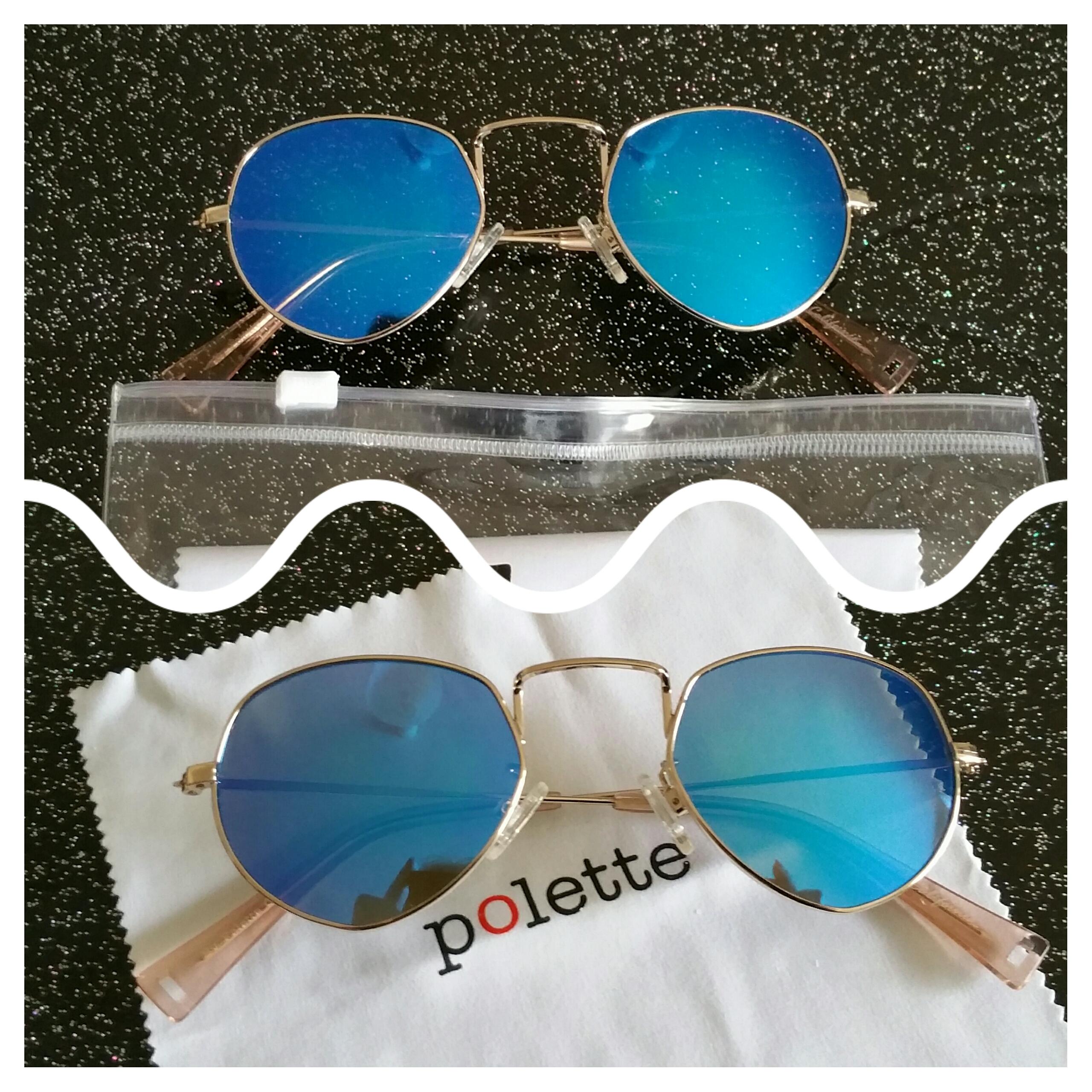 J ai carrément craqué pour ces lunettes en métal argent avec ses formes  originales ainsi que pour les verres miroir d un bleu intense! 02a044cb47a0