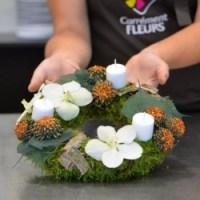 DIY Noël, un centre de table fleuri à faire soi-même