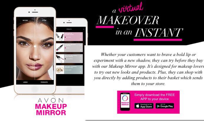 AVON Makeup Mirror app - AVON Beauty Within Makeup UK