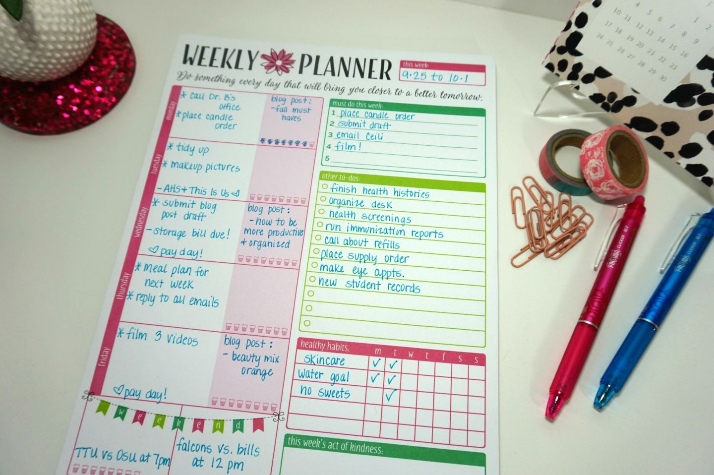 Tips To Help You Get Organized & Be More Productive // Beauty With Lily - A West Texas Beauty, Fashion & Lifestyle Blog