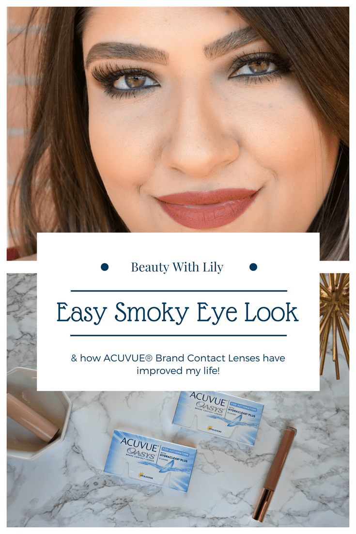 Easy Smoky Eyes with ACUVUE® Brand Contact Lenses & Target Optical® // #ad #TreatYourEyes   Beauty With Lily