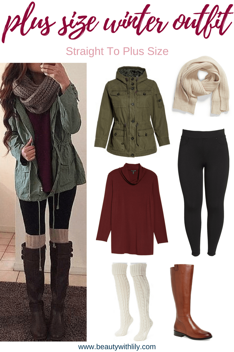 Straight To Plus Size Winter Outfits - Beauty With Lily