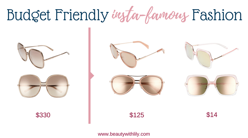 Budget Friendly Insta-Famous Fashion Pieces // High-End Dupes // High-End Knockoffs // Fashion Dupes // Affordable Oversized Square Sunglasses | Beauty With Lily