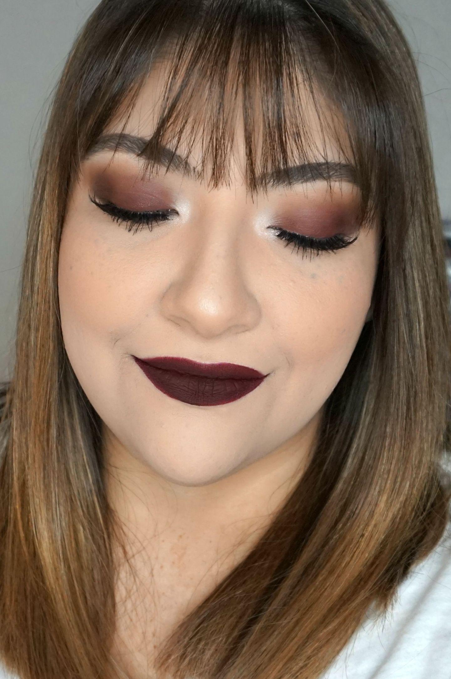 Vampy Makeup Look // Dark Makeup Look // Fall Makeup // Vampy Lips // Smokey Eyes // Dark Lipstick // Burgundy Makeup | Beauty With Lily