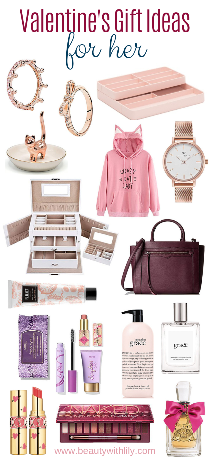Valentine's Day Gift Ideas For Her // Affordable Valentine's Day Gifts // Gifts For Her | Beauty With Lily