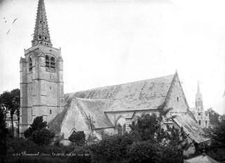 Les deux églises en 1887