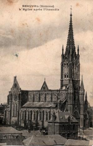 Église Saint-Nicolas après l'incendie du 8 avril 1925