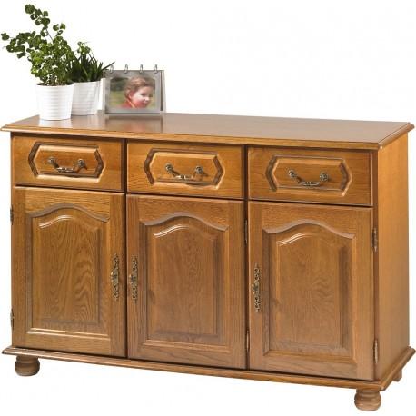 buffet bas chene 3 portes 3 tiroirs beaux meubles pas chers