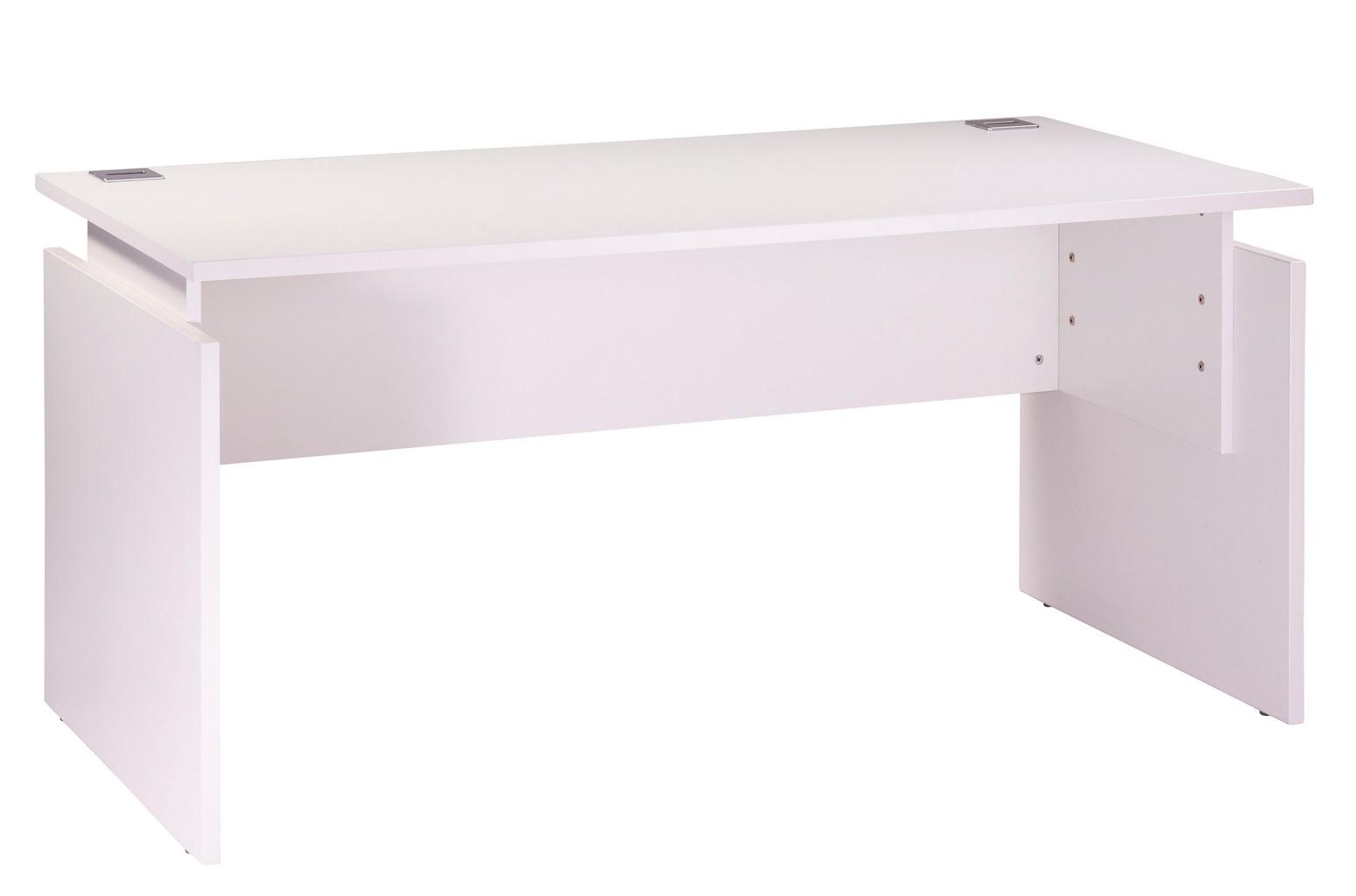 bureau 160 x 80 cm blanc reglable en hauteur ineo beaux meubles pas chers