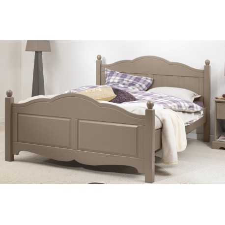 lit taupe 2 places 140 x 190 avec sommier