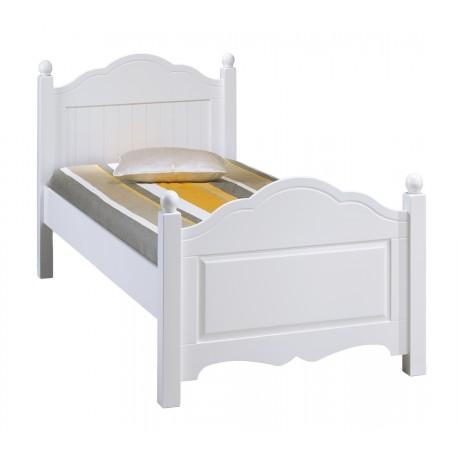 lit blanc 1 place 90 x 190 cm beaux meubles pas chers