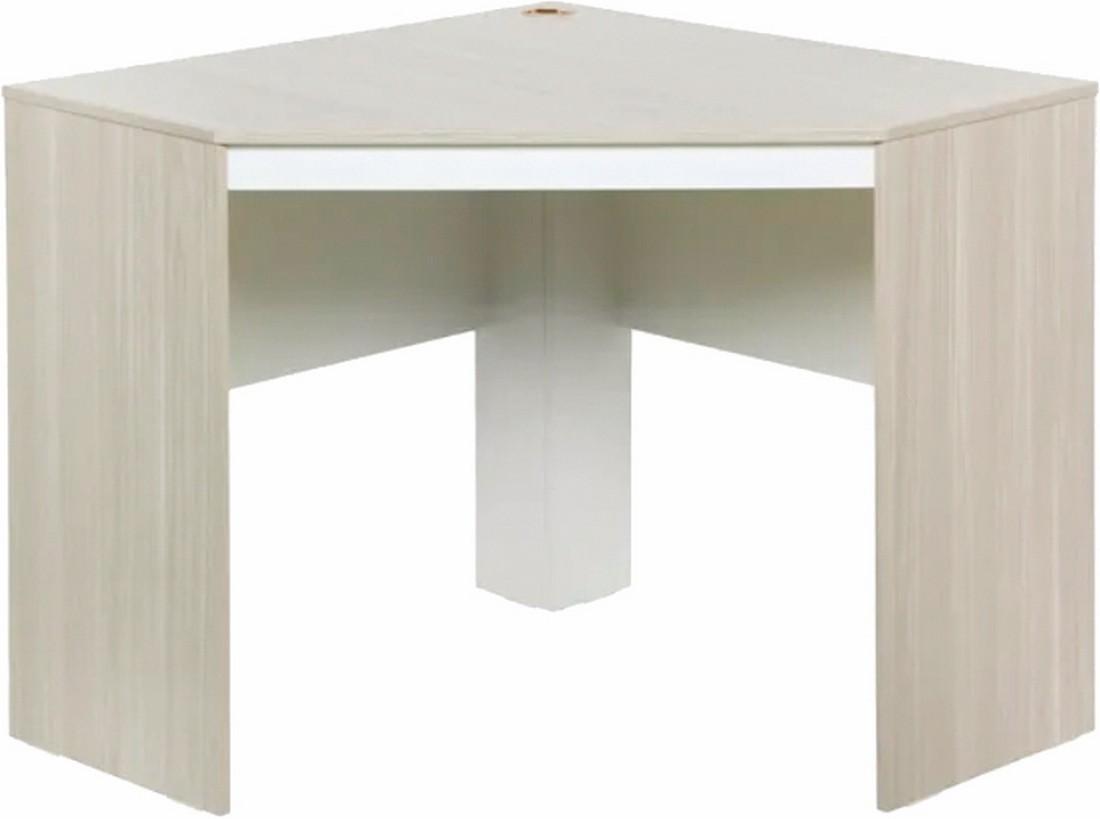 bureau d angle chene et blanc