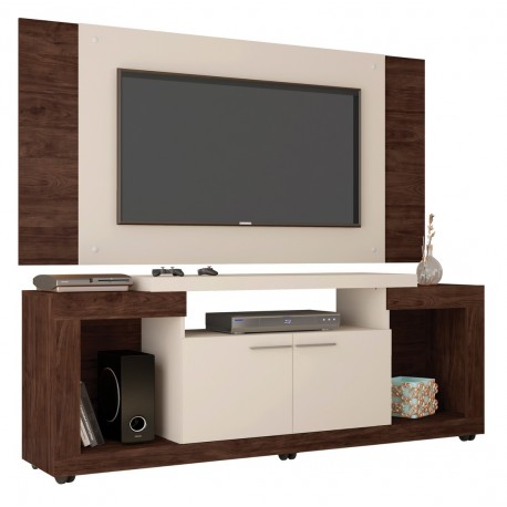 meuble tv mural 55 pouces wenge blanc beaux meubles pas chers