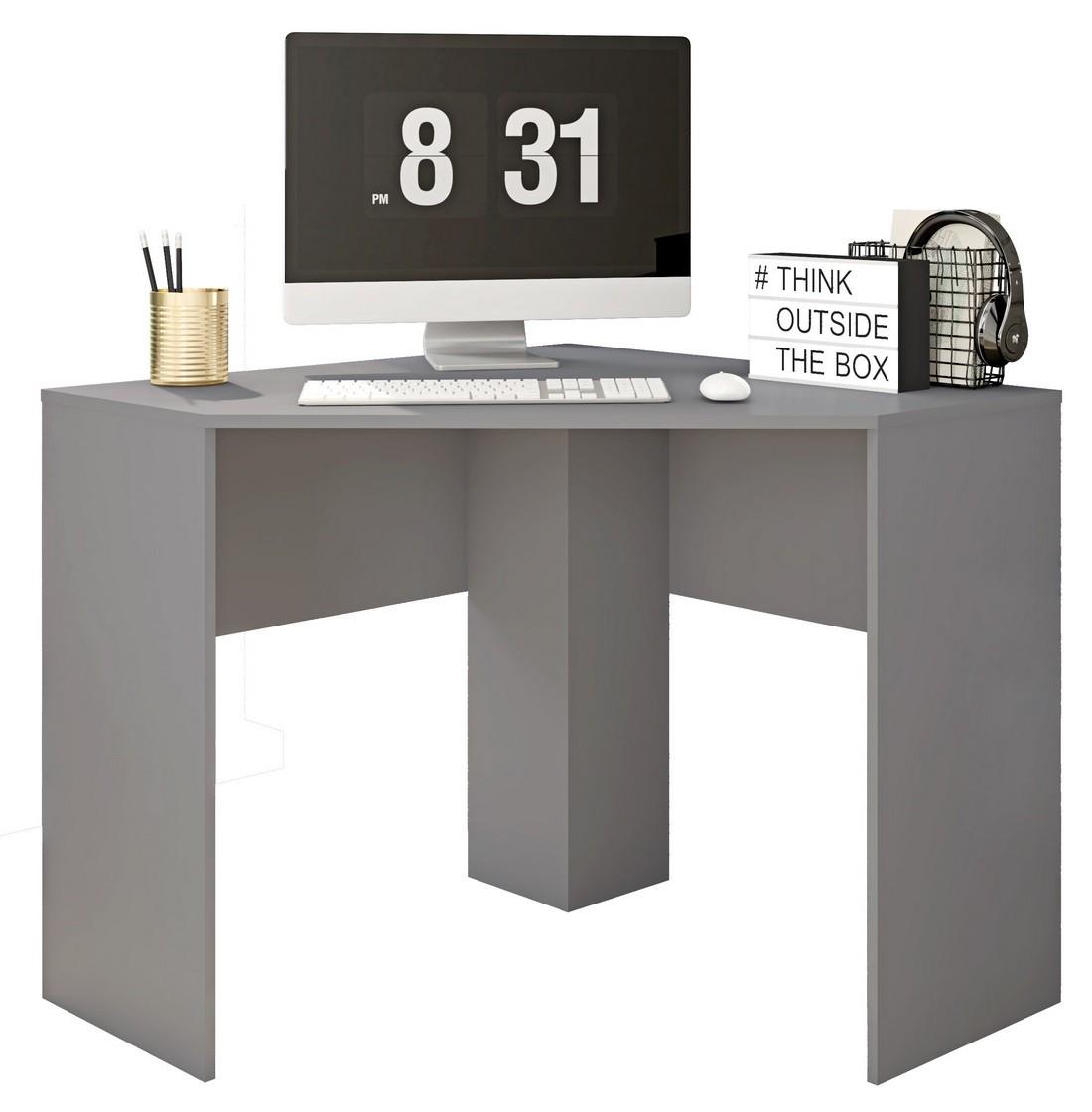 bureau d angle gris mat 90 cm beaux