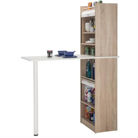 table de cuisine et 2 meubles de rangement chene beaux meubles pas chers