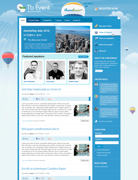events-theme-drupal-gratuit