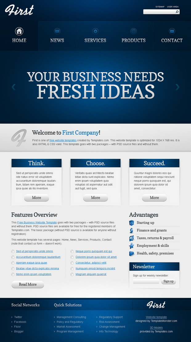 first-template-html-gratuit