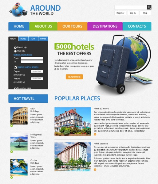 Around The World - Template HTML5/CSS3