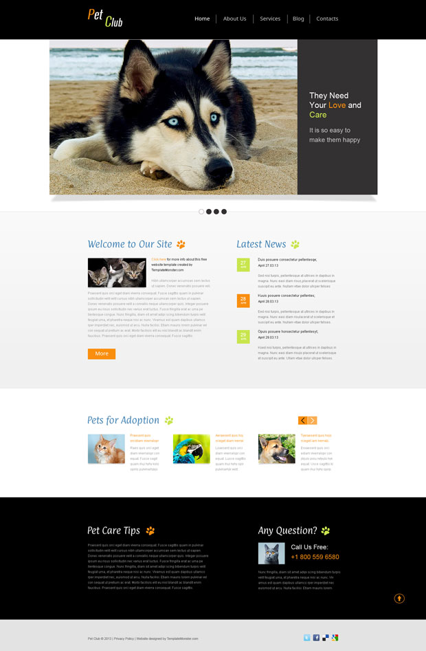 petclub-template-html5-animaux